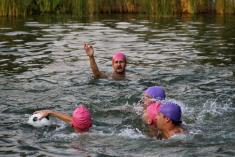 Utkání Modré a Velehradu ve vodním pólu 2015